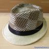 หมวกทรงไมเคิล สีครีม-น้ำตาล ลายตาราง