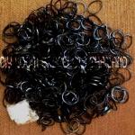 ยางถัก 100% Silicone Loom Band สีดำ 600 เส้น ( #10)