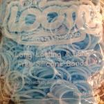 100% Silicone Loom Band รุ่นเรืองแสง(Glow in the dark )/ สีฟ้าพาสเทล 600 เส้น(GPB)