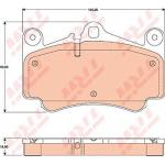 ผ้าดิสเบรคหน้า PORSCHE CARRERA 4S ปี04-07 / Front Brake Pads,