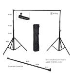โครงฉากถ่ายภาพ ขาตั้งฉากหลัง backdrop แบบถอดประกอบได้ 2.6m x 3.2m BG-B