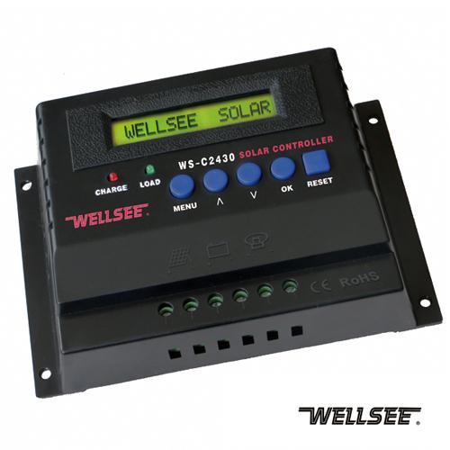 ตัวควบคุมการชาร์จแบตเตอรี่ แบบ PWM ขนาด 60A 12/24V (WLS)