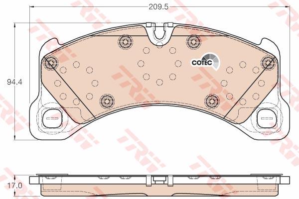 """ผ้าดิสเบรคหน้า CAYENNE, MACAN รุ่นหน้าแคบ """"BREMBO"""" / Front Brake Pads, 95835193930"""