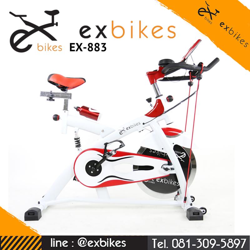 จักรยานออกกําลังกาย Spin Bike ระบบสายพาน แบบมีโช้ค รุ่น 883