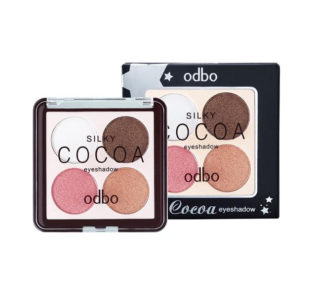 Odbo OD217 Silky Cocoa Eyeshadow โอดีบีโอ ซิลค์กี้ โคโค่ อายแชโดว อายแชโดวเนื้อละเอียด มีชิมเมอร์