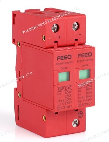 Surge แบบ SPD DC ขนาด 20-40kA 500V 2P (FEO)