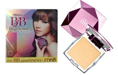 ของแท้ นำเข้าจากเกาหลี Mistine BB Diamond Super Powder SPF 25 PA++