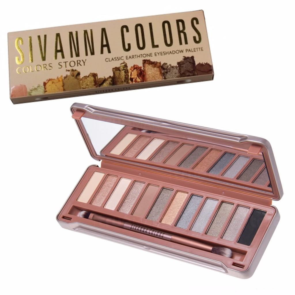 ของแท้ ซิเวียนา อายแชโดว์ Sivanna colors Classic Earthtone Eyeshadow palette HF621