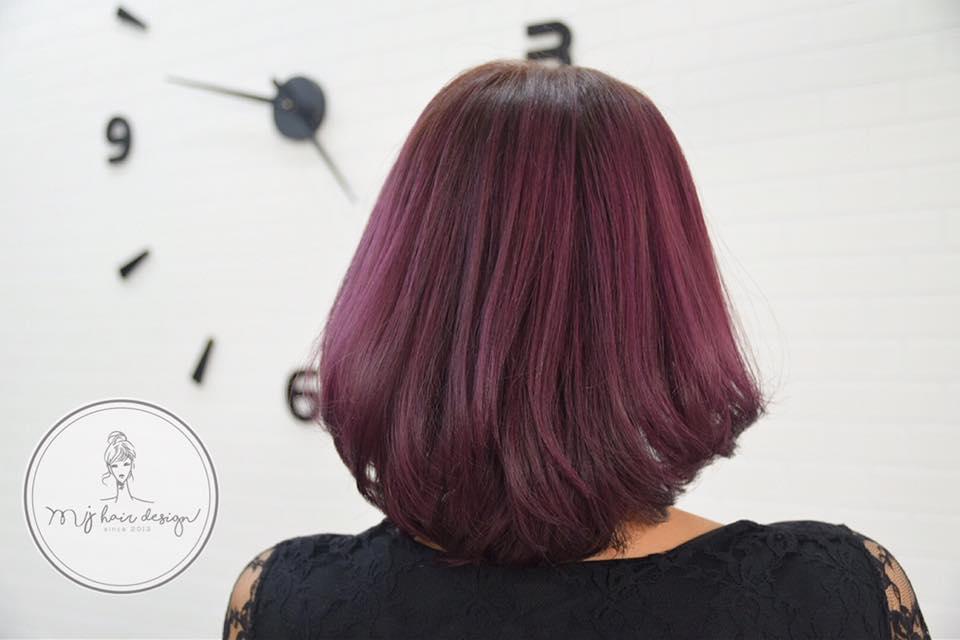 บริการทำสีผม Purple Pink Hair Color สีผมม่วงเปลือกมังคุด