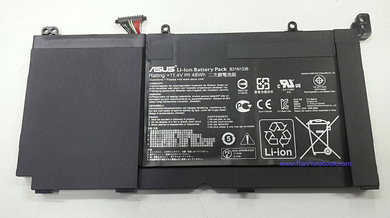 Battery Asus VivoBook S551L S551LB S551LA B31N1336 ของแท้ ประกัน ศูนย์ ASUS ราคา พิเศษ