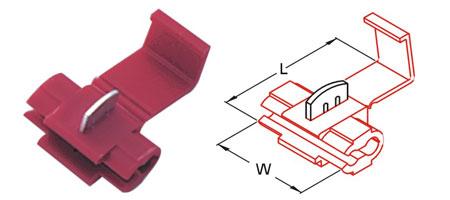 ตลับหนีบสาย 22-18 A.W.G. 0.5-0.75mm2 878100 SS 1.5 T-Lug Quick Splice Connectors KST
