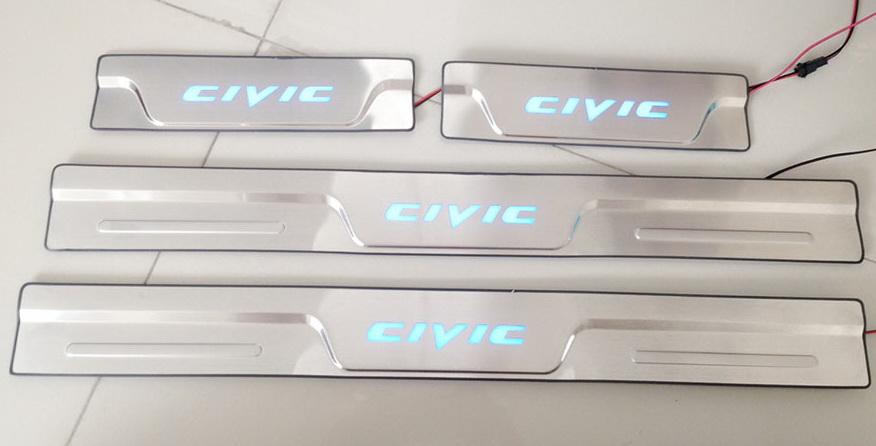 สคัพเพลท Honda Civic มีไฟ LED