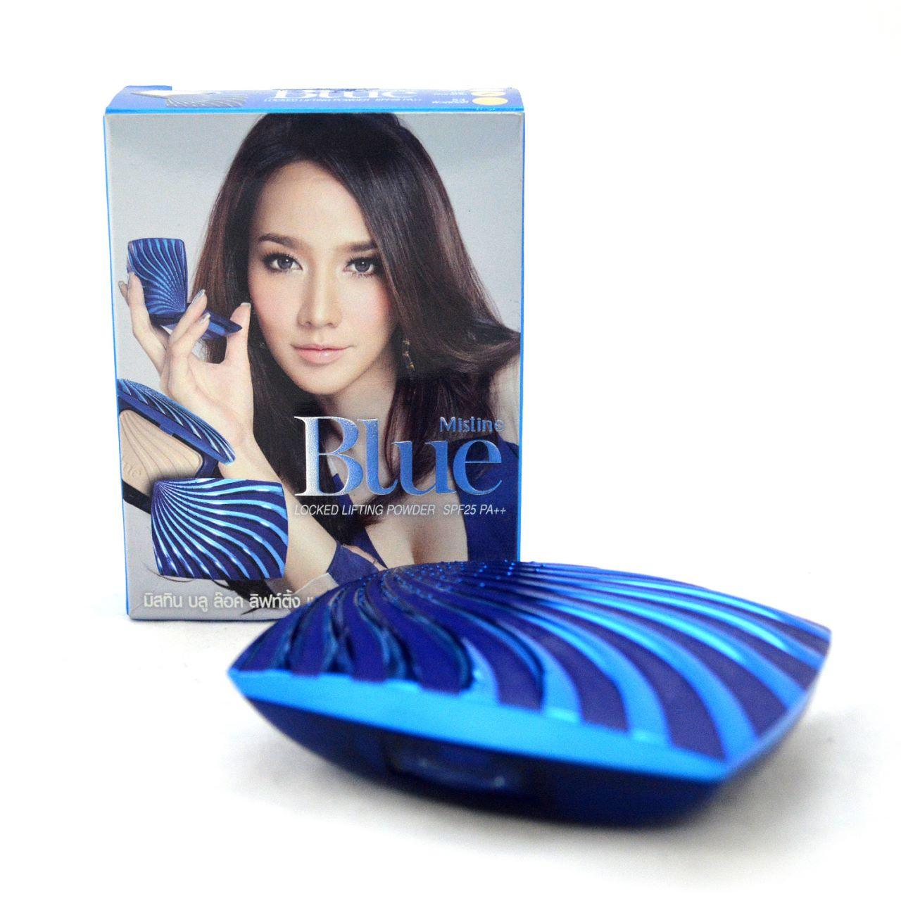 Mistine Blue Locked Lifting Powder SPF 25 PA++ แป้งพัฟมิสทีน บลู ล็อค ลิฟท์ติ้ง เพาเดอร์ SPF 25 PA++ ของแท้ ถูกที่สุด