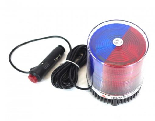 ไฟไซเรนติดหลังคา LED 30 ดวง เลนส์แดง+น้ำเงิน