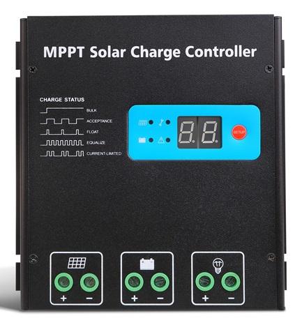 ตัวควบคุมการชาร์จแบตเตอรี่ แบบ MPPT ขนาด 30A 12/24V (Max Volt Input: 150V) SR-MT2430