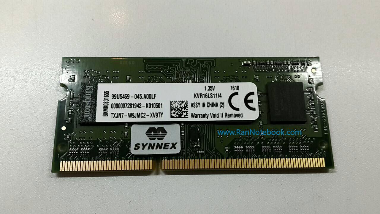 แรม โน๊ตบุ๊ค RAM NB 4GB DDR3L 1600MHz ประกัน LT SYNNEX