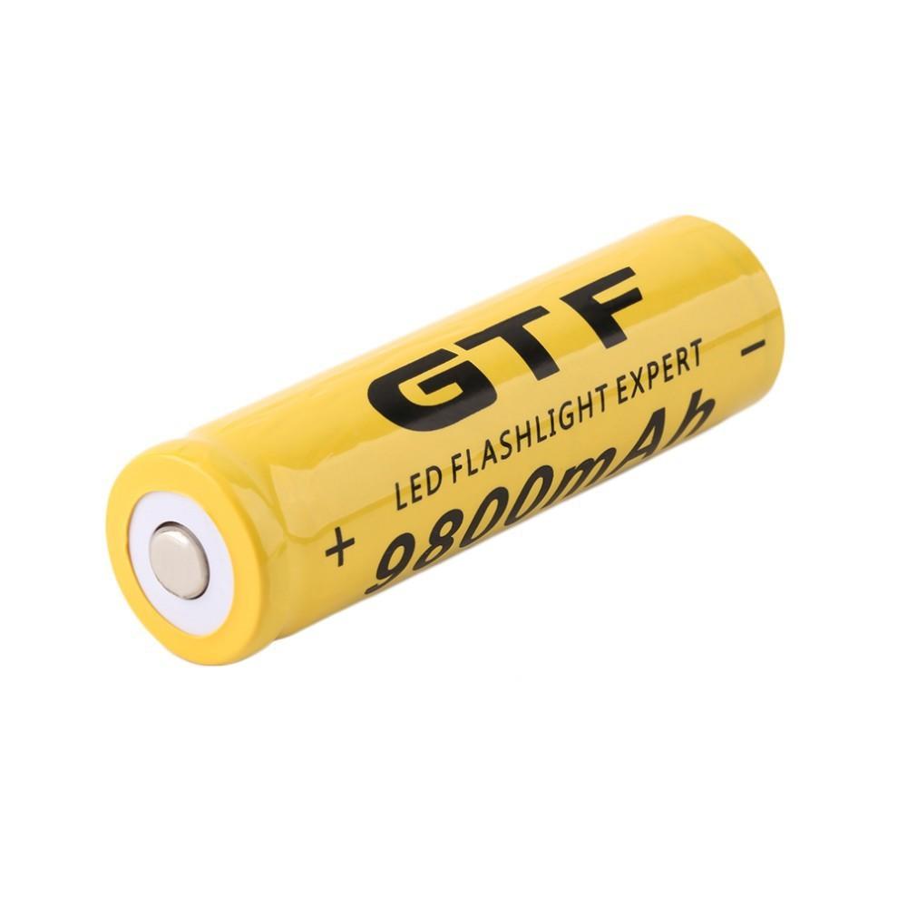 แบตเตอรี่ ไฟฉาย ไฟจักรยาน 3.7V 18650 9800mAh Li-ion Rechargeable Battery 1 ก้อน