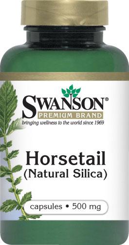 Swanson Horsetail Grass 500 mg 90 แคปซูล (USA) เพื่อบำรุงเส้นผม เพิ่มความแข็งแรงและยืดหยุ่นของเส้นผม