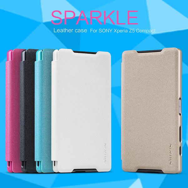 เคสฝาพับ Xperia Z5 Compact ของ Nillkin Sparkle Leather Case