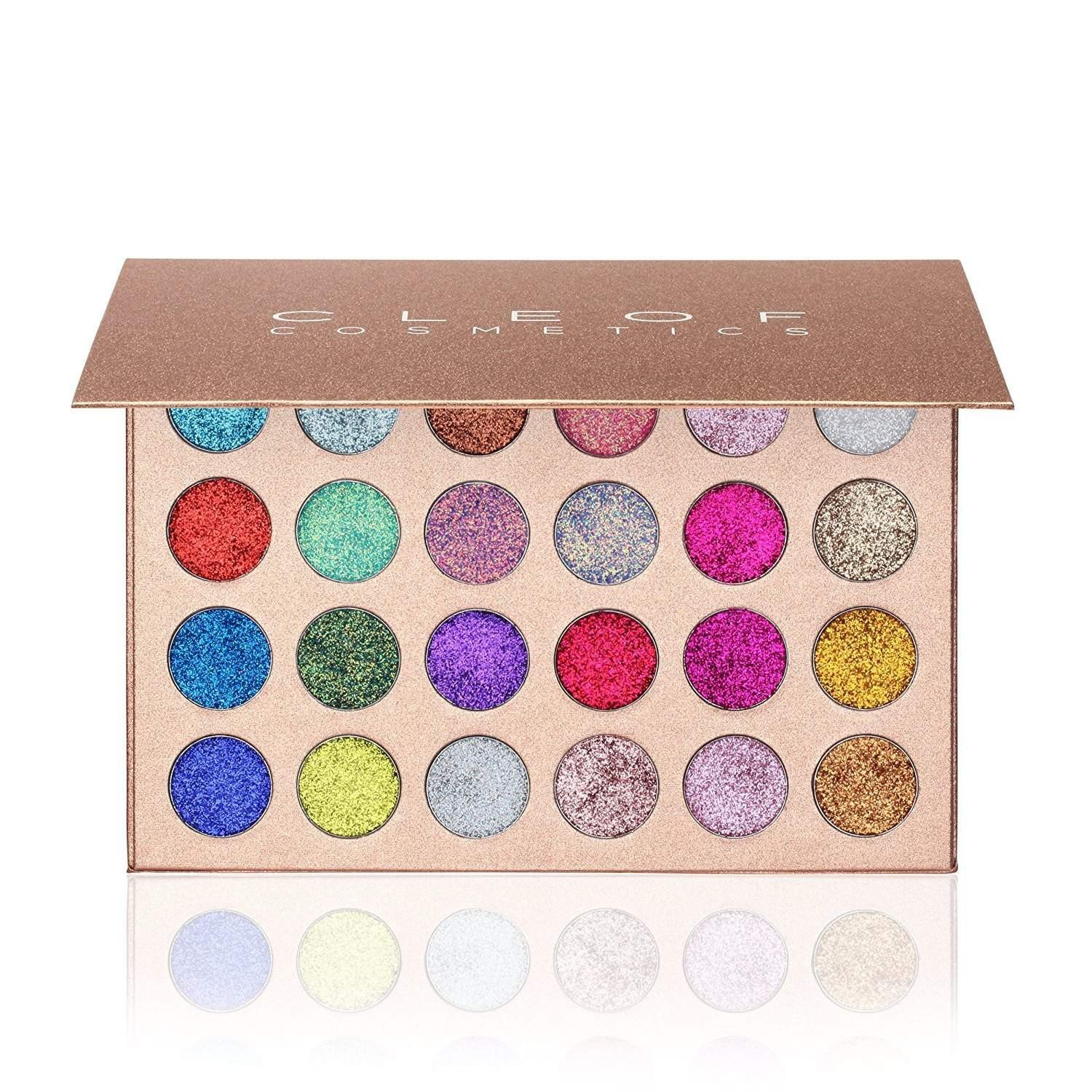 CLEOF Cosmetics Unicorn Glitter Eyeshadow Palette 24 สี