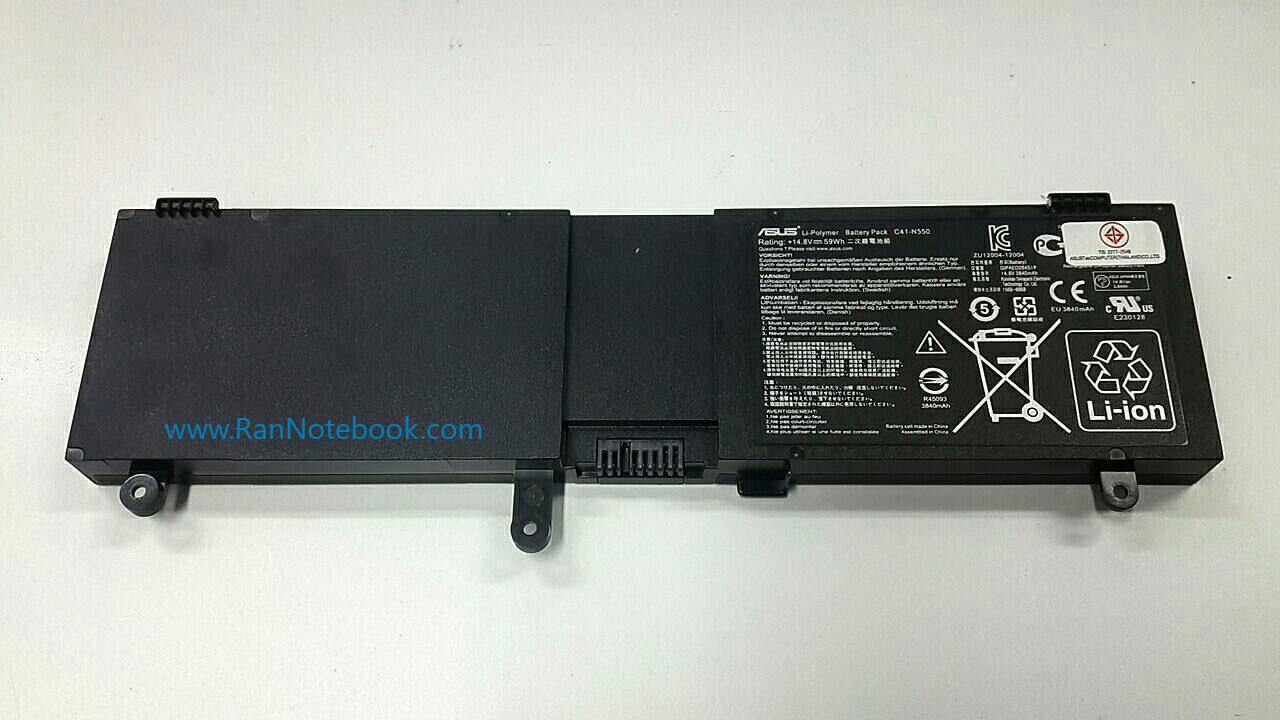 Battery Asus N550 N550J N550JK ของแท้ ประกันศูนย์ ราคา ไม่แพง