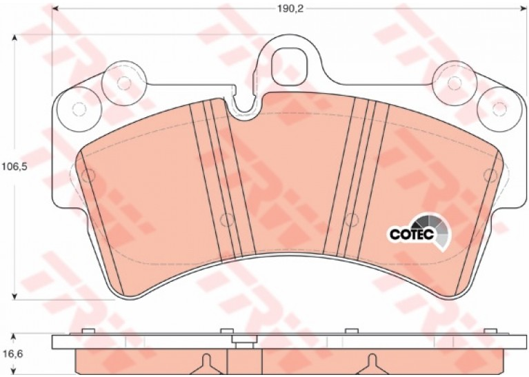 ผ้าดิสเบรคหน้า CAYENNE 955 / Front Brake Pads