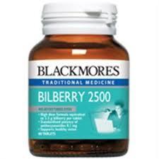 (ไทย) Blackmores Bilberry 2500 mg 60 เม็ด (Extract 25 mg) (Australia) ช่วยบำรุงสายตา และเพิ่มประสิทธิภาพในการมองเห็น เหมาะสำหรับผู้ที่ใช้สายตามาก