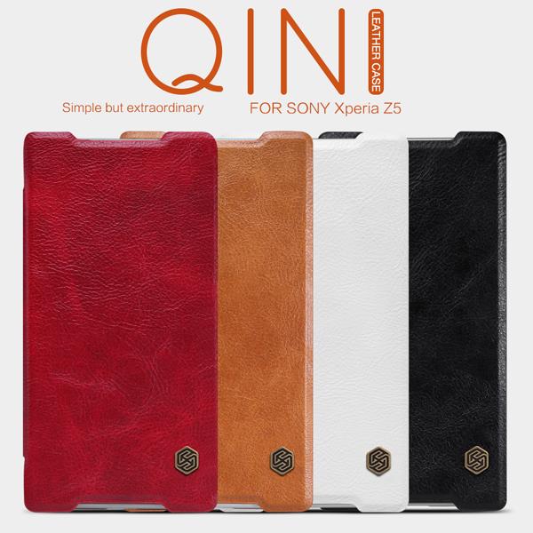 เคสฝาพับ Xperia Z5 ของ Nillkin Qin Leather Case