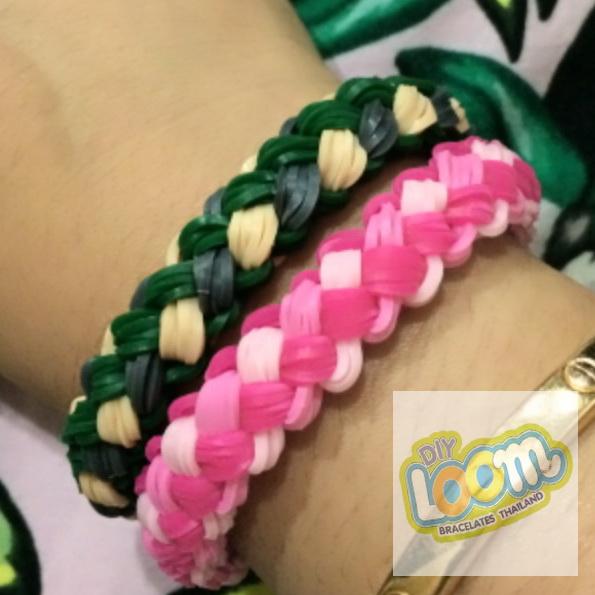 หนังยางถักแฟนซี Silicone loom bands สีเบจ สั่งทำพิเศษ สำหรับ DIY Loom Bracelets Thailand เท่านั้น