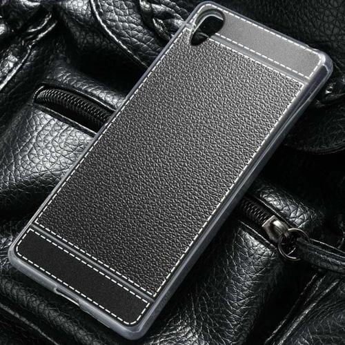 เคสยาง Litchi Rind luxury Silky TPU สำหรับ Xperia X