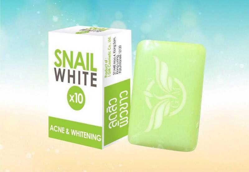 สบู่กลูต้า บาย ดรีม สเนลไวท์ก้อนสีเขียว Snail White x10 by Dream