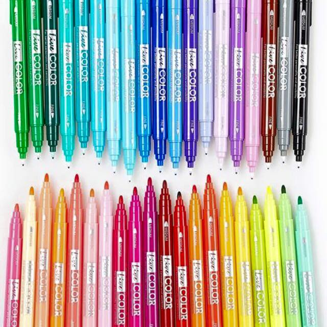 Set 39 Colors (40เเท่ง) - ปากกาสี 2 หัว Monami Live Color