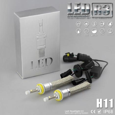 ไฟหน้า LED ขั้ว H11 Cree 2 ดวง 40W R3 No Fan