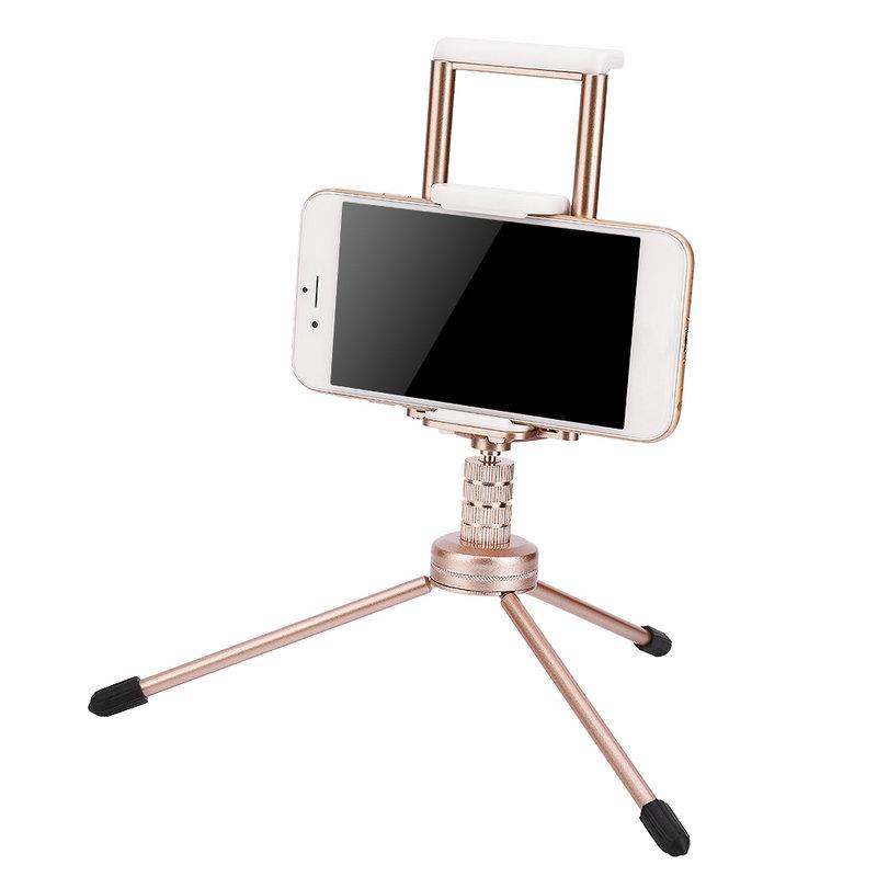 ตัวหนีบมือถือ คลิปจับมือถือ Clip Hoder 2 in 1 มือถือ แท็บเล็ต ipad tablet สีทอง Gold