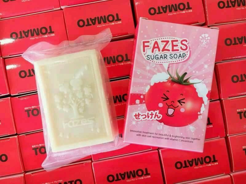 สบู่มะเขือเทศเกล็ดน้ำตาล Fazes Sugar Soap ของแท้ ถูกจริง