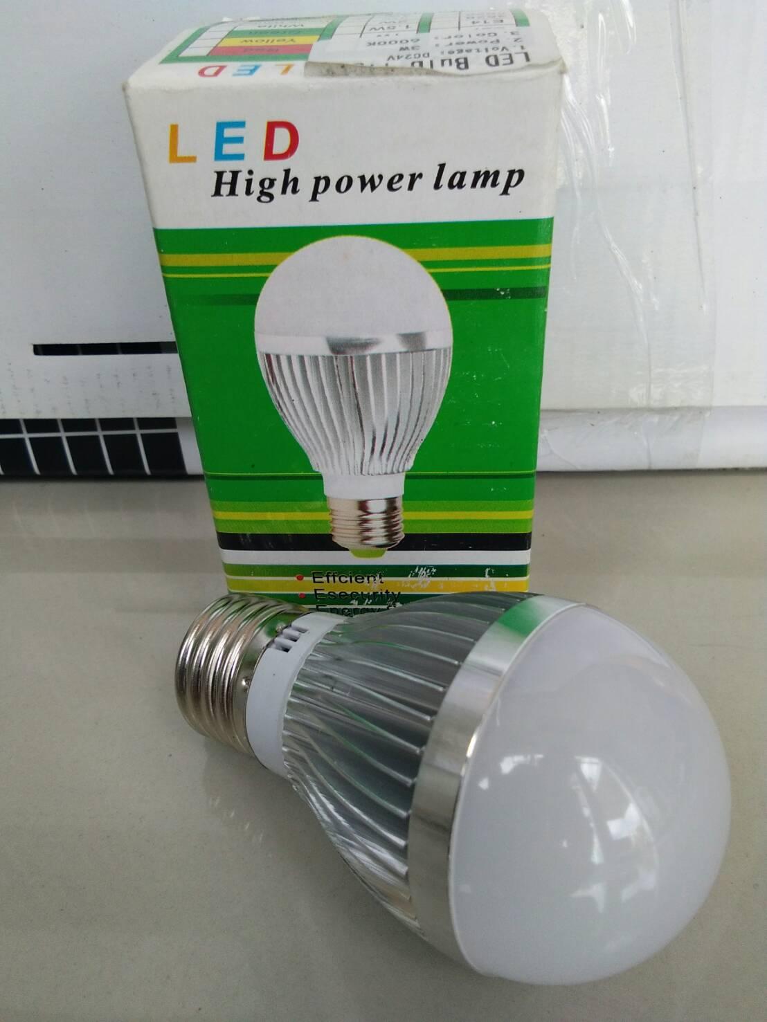 หลอดไฟ LED E27 Bulb ขนาด 3W 12/24V 4200-4500K AL
