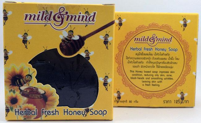 สบู่น้ำผึ้งผสมโสม น้ำหัวไชเท้าสกัด มายด์ แอนด์ มายด์ mild&mind Herbal fresh Honey Soap