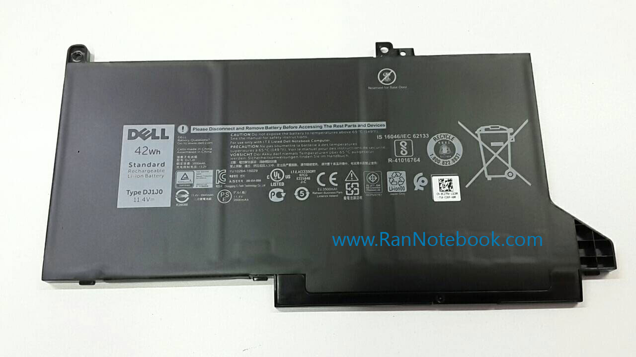 Battery Dell Latitude 7480 3-Cell 42Whr DJ1J0 แบตแท้ ประกันศูนย์ Dell Thailand