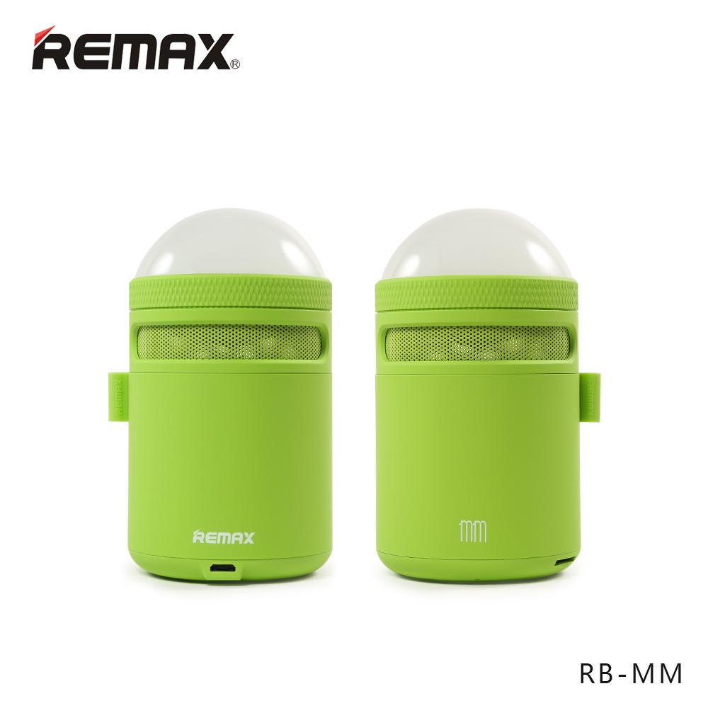 ลำโพงบลูทูธ Remax RB-MM เบสแน่นตื้ดๆ LED เปลี่ยนสีไปเรื่อย Green สีเขียว