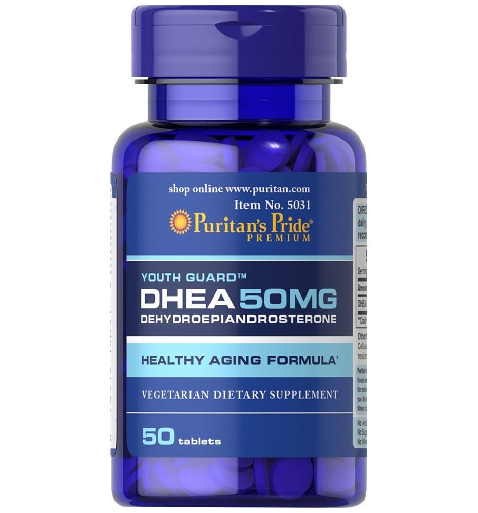 Puritan's Pride DHEA 50 mg 50 Tablets สูตรเข้มข้น ชะลอภาวะเสื่อมตามวัย เสริมสมรรถภาพทางเพศชาย