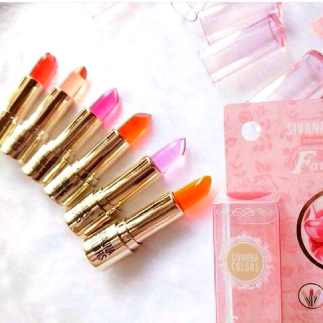 Sivanna HF568 ลิปเปลี่ยนสี เหมือนปากเด็ก เจลลี่ ลิปสติก Lip Jelly Discoloration Lipstick