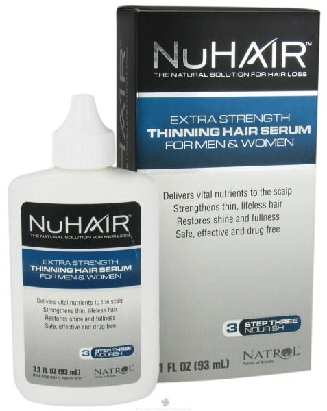 ((เซรั่มปลูกผม ประสิทธิภาพดีกว่า Velform)) Nu Hair Thinning Hair Serum 93 ml (USA) ฟื้นฟูและสร้างเส้นผมใหม่ รักษาผมร่วง ผมบาง ด้วยเทคโนโลยี lip