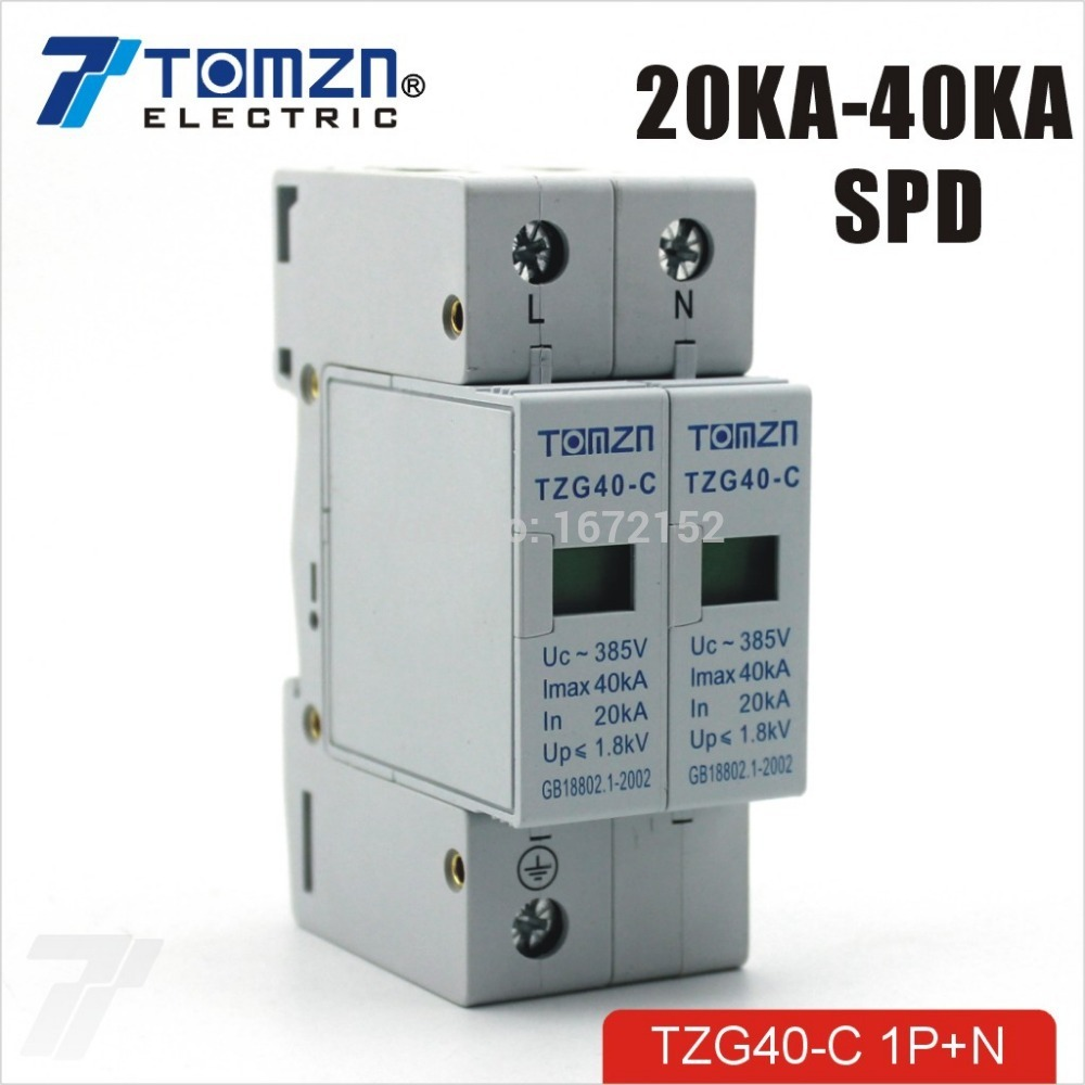 Surge แบบ SPD AC 20-40kA 385V 2P (TMZ)