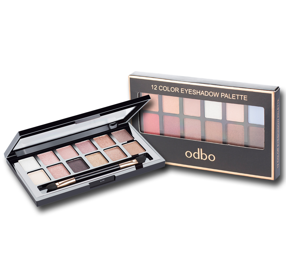 ODBO 12 eye shadow collection pallete Od227 โอดีบีโอ ทเวลฟ์ คัลเลอร์ อายแชโดว์ พาเลท