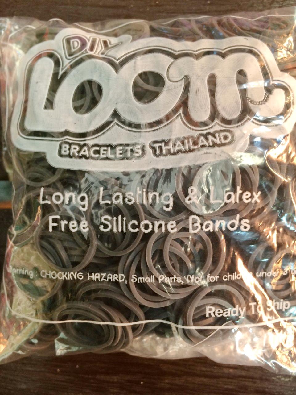 100% Silicone Loom Bands สีเทาเข้ม 600 เส้น ( # 25 )