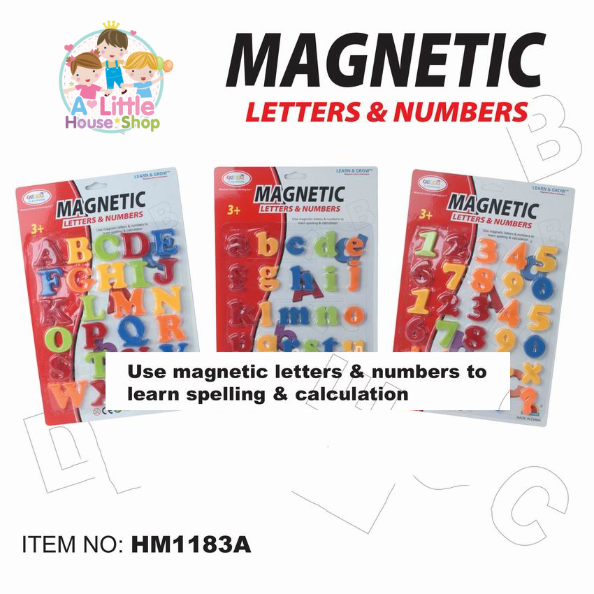 "First Classroom - Magnetic ตัวอักษรแม่เหล็ก ตัวพิมพ์เล็ก พิมพ์ใหญ่ และตัวเลข ขนาด 2 นิ้ว""1 ชุด มี 3 แบบตามรูป"""