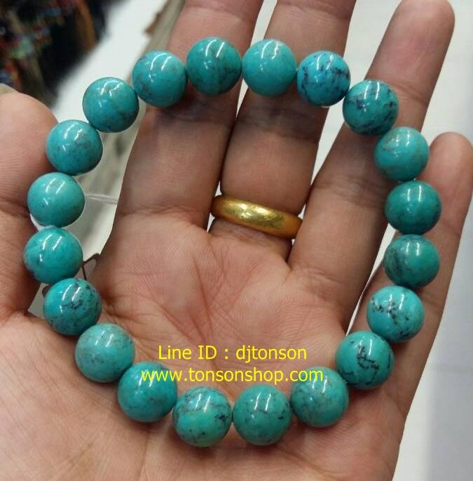 หินนำโชคเทอร์ควอยซ์ Turquoise ของแท้ 100% เกรด AA หินมงคล คนทีเกิดเดือนธันวาคม เสริมสร้างสติปัญญา ความรัก ผู้นำ