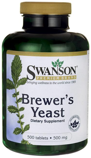 Swanson Premium Brewer's Yeast 500 mg 500 เม็ด บำรุงเส้นผมและเล็บให้แข็งแรงและสวยงาม