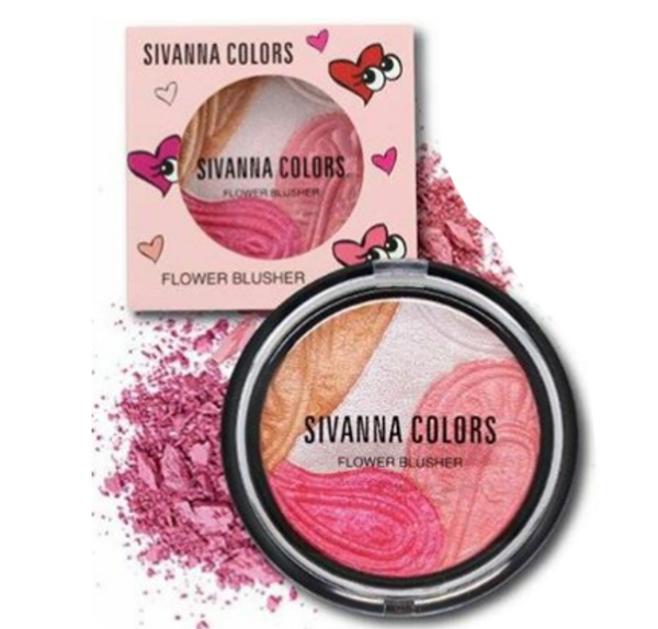 Sivanna Colors Flower Blusher HF345 ปัดแก้มเนื้อไฮไลท์เงาฉ่ำวาว ถูกที่สุด