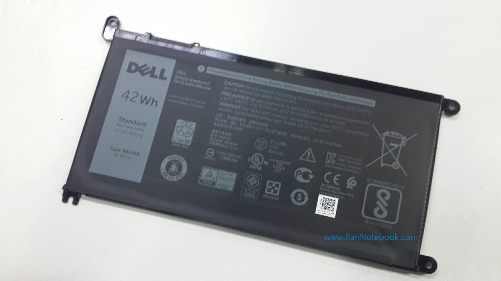 Battery Dell inspiron 5567 inspiron 15 5567 ของแท้ ประกันศูนย์ Dell ราคา ไม่แพง